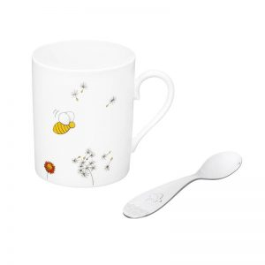 Beebee mug and teaspoon